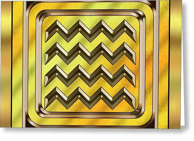 Gold Design 22 - Chuck Staley Greeting Card by Chuck Staley