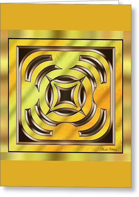 Gold Design 23 - Chuck Staley Greeting Card by Chuck Staley