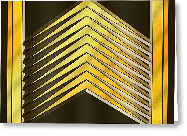 Gold Design 6 - Chuck Staley Greeting Card by Chuck Staley