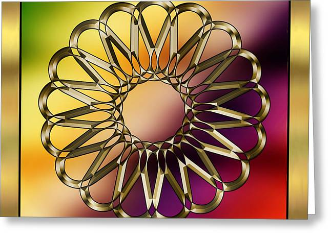 Gold Design 9 - Chuck Staley Greeting Card by Chuck Staley