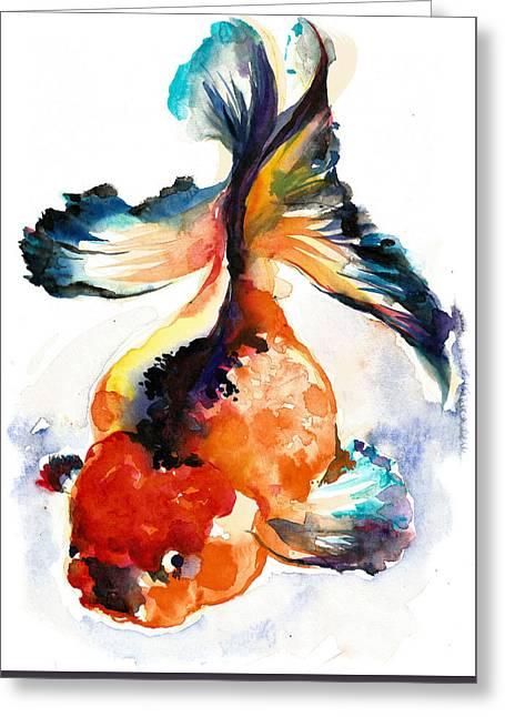 Gold Fish - Xxxl Large Format Greeting Card by Tiberiu Soos