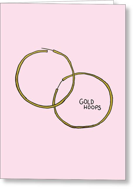Gold Hoops Greeting Card