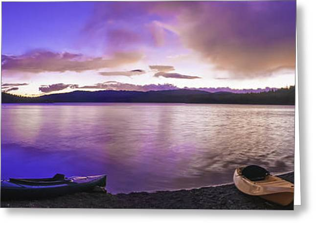 Greeting Card featuring the photograph Gold Lake Pano by Sherri Meyer