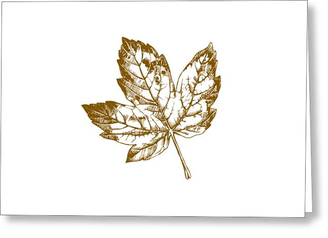 Gold Leaf Greeting Card by Chastity Hoff