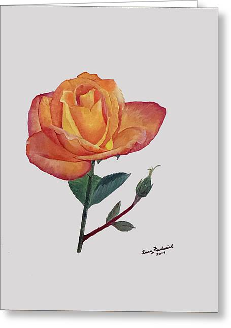 Gold Medal Rose Greeting Card