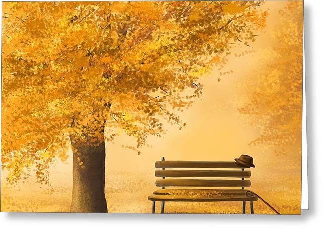 Gold Memories Greeting Card