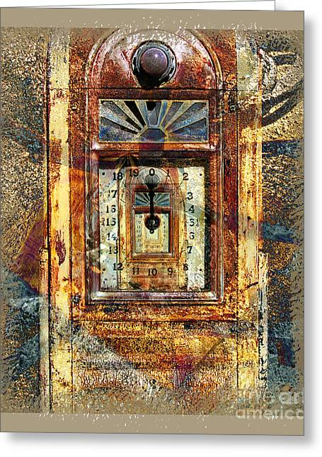 Gold Mine Gas Pump Greeting Card by Chuck Brittenham