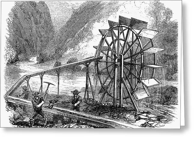 Gold Mining, 1860 Greeting Card