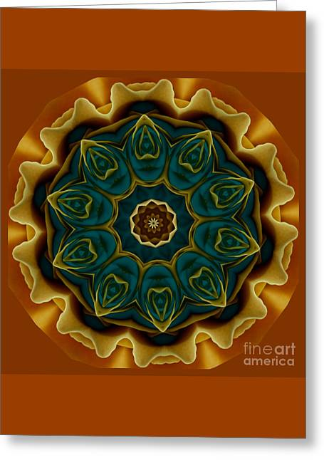 Gold Rose Mandala Greeting Card