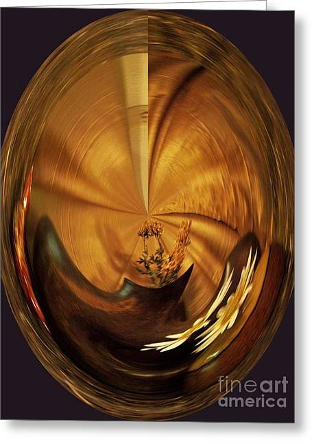 Gold Satin Greeting Card by Marsha Heiken