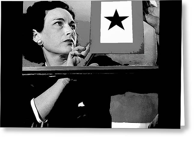 Gold Star Mother Mrs Harry B. England 1942 Color Added 2016 Greeting Card