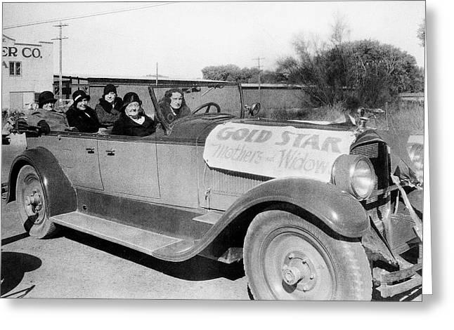 Gold Star Mothers And Widows Ww1 Armistice Parade Tucson Arizona 1932 Greeting Card