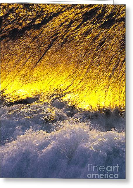 Gold Swirl  -  Part 2 Of 3 Greeting Card by Sean Davey