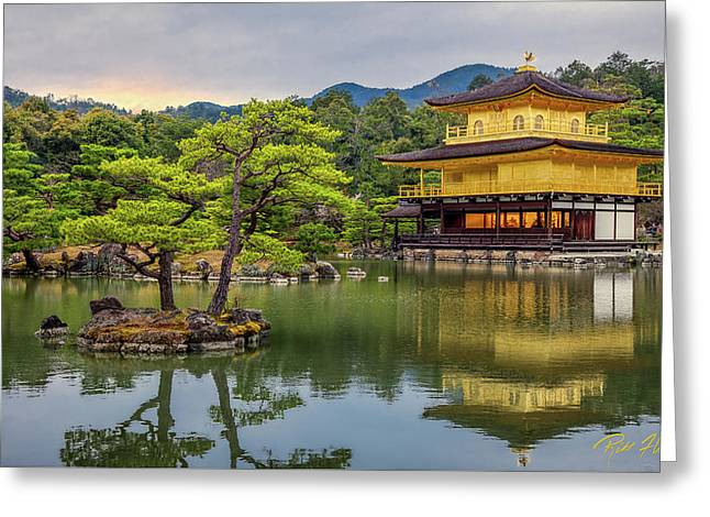 Greeting Card featuring the photograph Gold Temple,  by Rikk Flohr