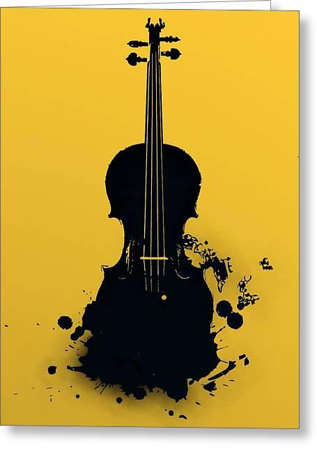 Gold Violin Greeting Card