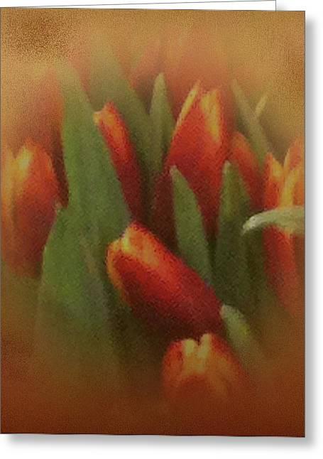 Gold Warp Tilups Greeting Card by Debra     Vatalaro