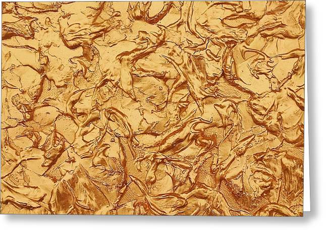 Gold Waves Greeting Card