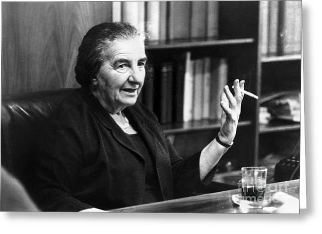 Golda Meir (1898-1978) Greeting Card by Granger