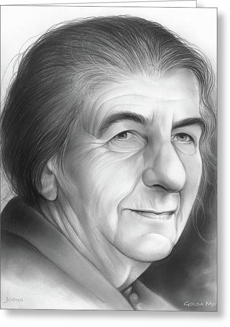 Golda Meir Greeting Card by Greg Joens