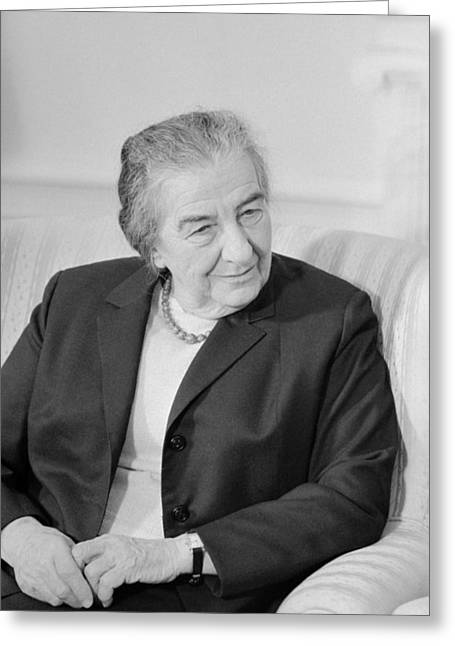 Golda Meir - Israeli Prime Minister Greeting Card by War Is Hell Store