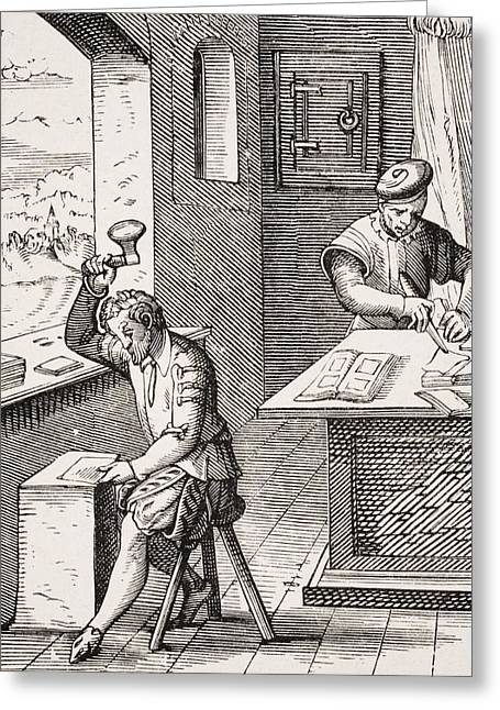Goldbeater. 19th Century Reproduction Greeting Card