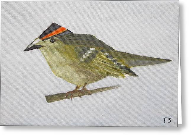 Goldcrest Greeting Card