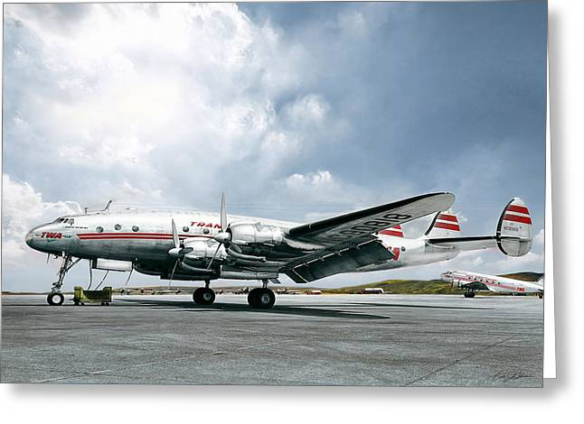 Golden Age Aviation - Lockheed Constellation Greeting Card