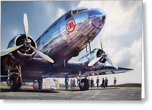 Golden Age Aviation Dc-3 Greeting Card