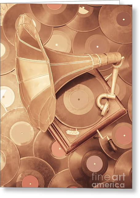 Golden Age Of Sound Greeting Card by Jorgo Photography - Wall Art Gallery