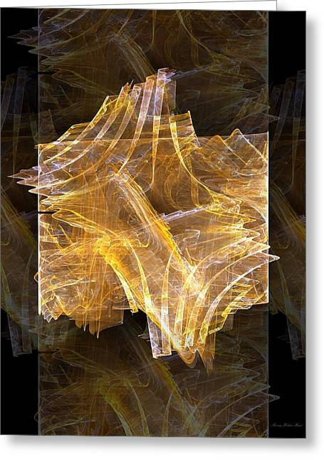 Golden Amber Light Show Greeting Card by Sherry Holder Hunt
