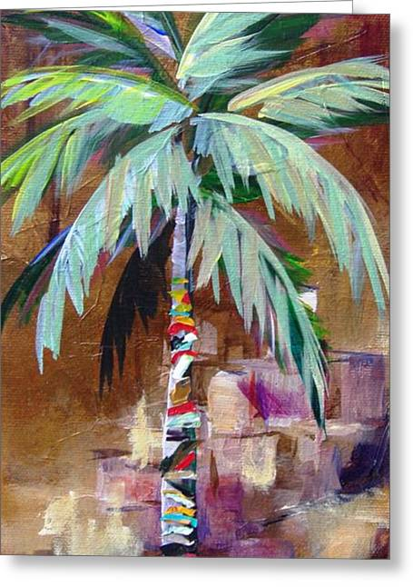 Golden Amethyst Palm Greeting Card