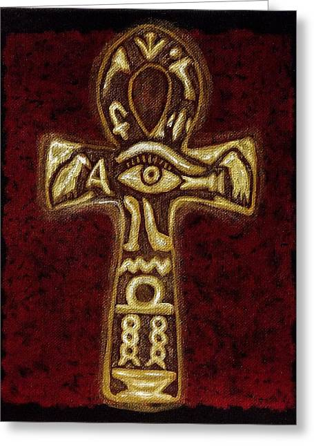 The Ankh On Canvas Painting