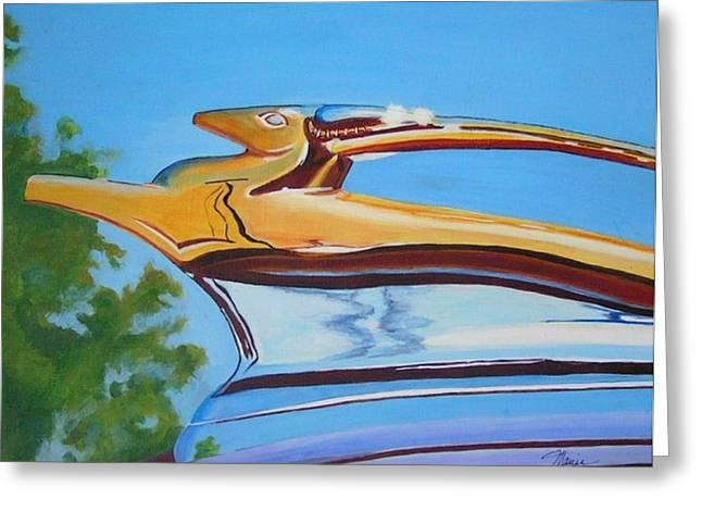 Golden Antelope Greeting Card by Margie Larson