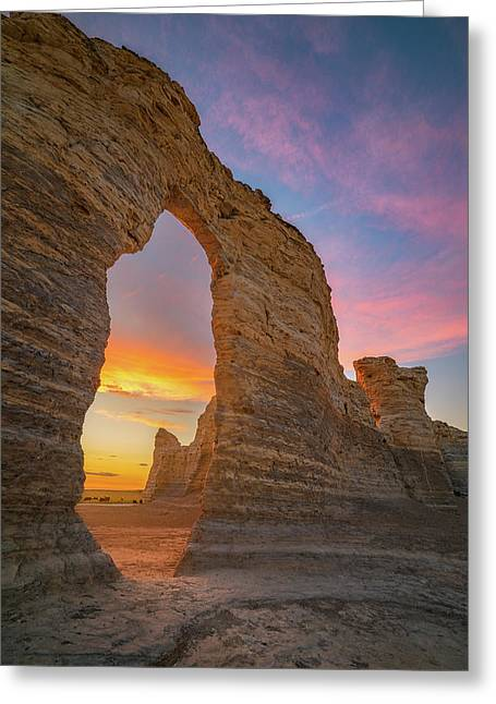 Golden Arch Of Kansas Greeting Card by Darren White