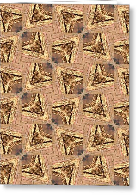 Golden Arrowheads Greeting Card by Maria Watt