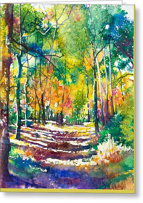 Golden Autumn Greeting Card by Patricia Allingham Carlson