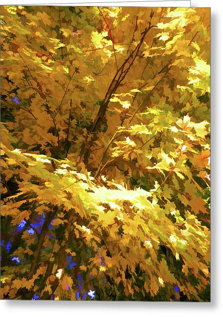 Golden Autumn Scenery Greeting Card by Lanjee Chee