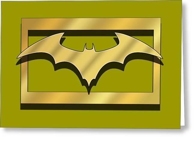 Golden Bat Greeting Card