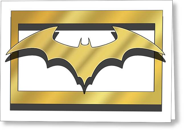 Golden Bat Greeting Card