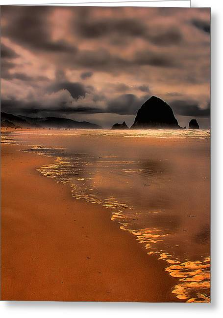 Golden Beach Greeting Card by David Patterson