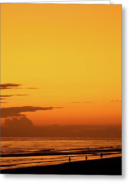 Golden Beach Sunset Greeting Card