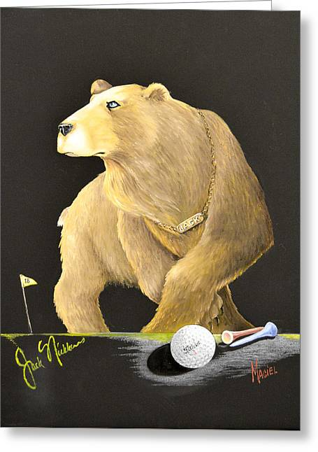 Golden Bear Metaphor Greeting Card by Alex Maciel
