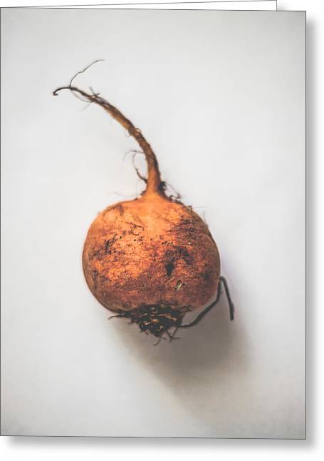 Golden Beetroot Greeting Card by Kate Morton
