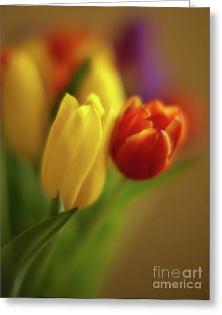 Golden Bouquet Greeting Card by Mike Reid