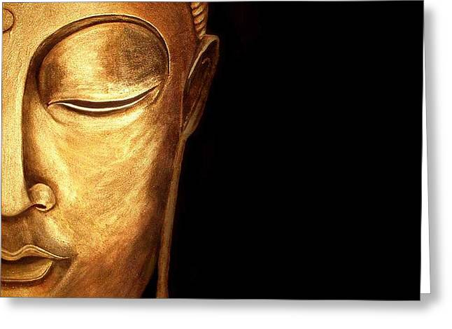 Golden Buddah Greeting Card