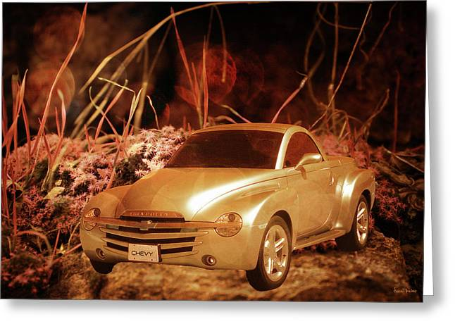 Golden Chevy - Ssr Greeting Card by Ericamaxine Price