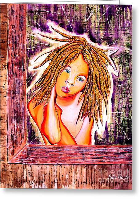 Golden Child Greeting Card by Julie Hoyle