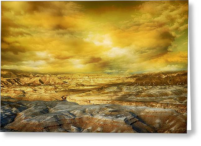 Golden Colors Of Desert Greeting Card