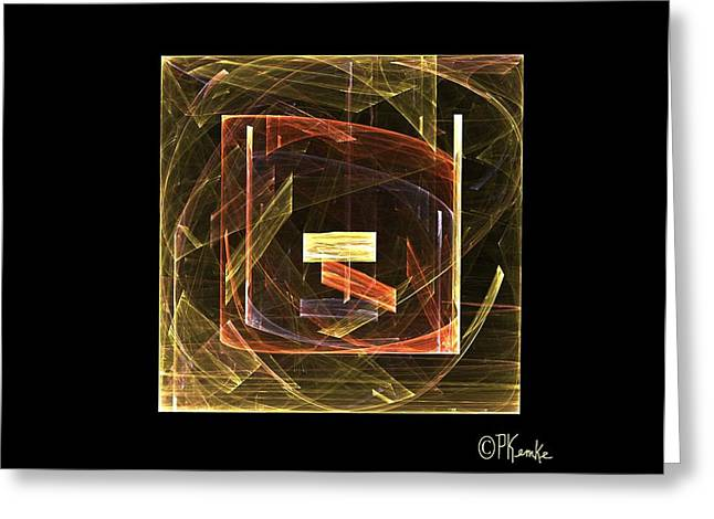 Golden Cube Greeting Card