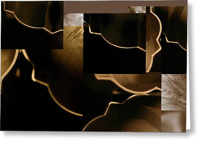 Golden Curves - Greeting Card